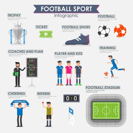 Football, Soccer Infographic. illustration.