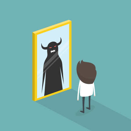 The dark side of human. The mirror concept.