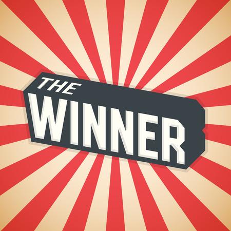 The Winner, Poster Design. Illustration