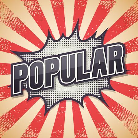 Popular, Retro poster, illustration.