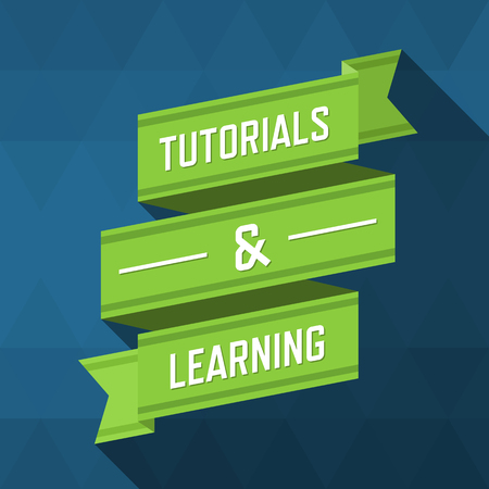 Tutorials and learning ribbon design, illustration.
