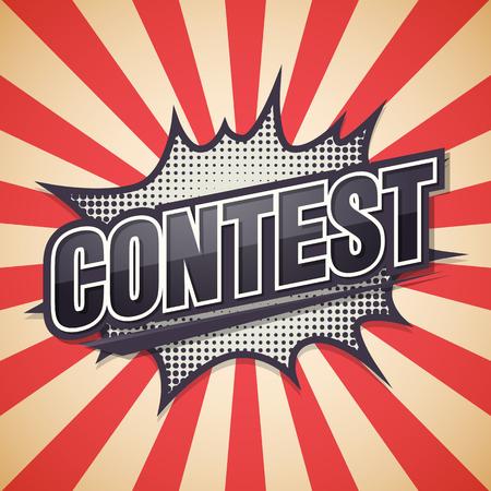 Contest, Retro poster, illustration.