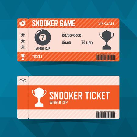 guidelines: Snooker, ticket design guidelines. Illustration