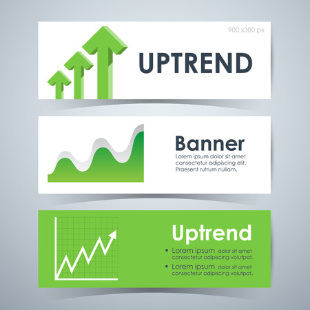 uptrend: Uptrend stock Banners, Template Layout. Vector illustration Illustration