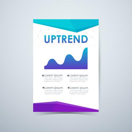 uptrend: Stock uptrend infographic. vector illustration