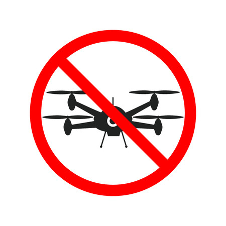 No flying zone, Drone sign