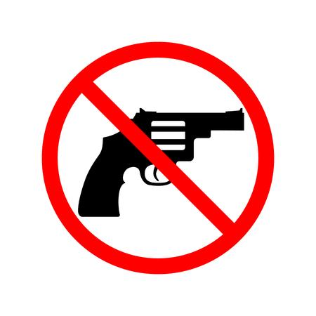 gun control: No Guns, Weapons Sign.