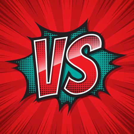 VS, Versus, Comic speech bubble. Vector illustration.