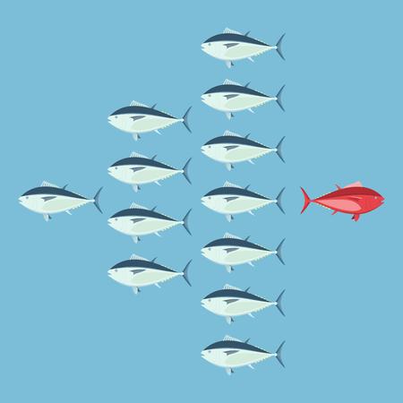 異なっている、勇気のコンセプト、ビジネスの信念。ベクトルの図。