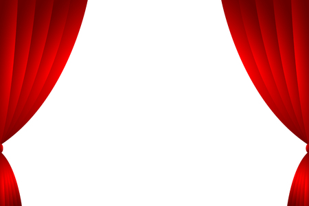Red curtain backdrop isolate. Vector illustration. Illustration