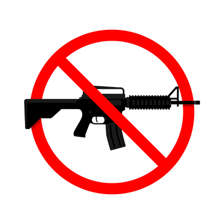 No Gun, Weapon Sign. Vector illustration
