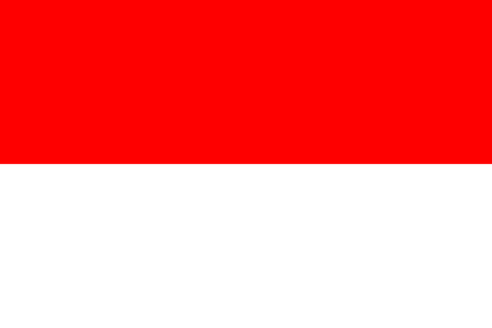 Indonesia flag standard size in Asia vector illustration.