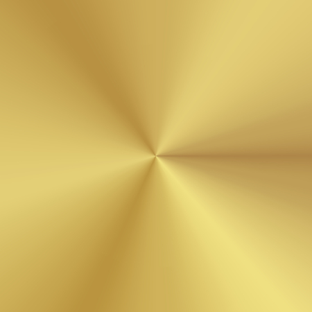 Polished plate metallic conical gradient of gold. Texture background. Vector Illustration Çizim