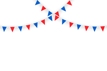 Celebrate party flags isolate and space for graphics design. Vector illustration