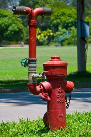 Thailand type street water valve for emergency fire hoses Stock Photo - 7084166