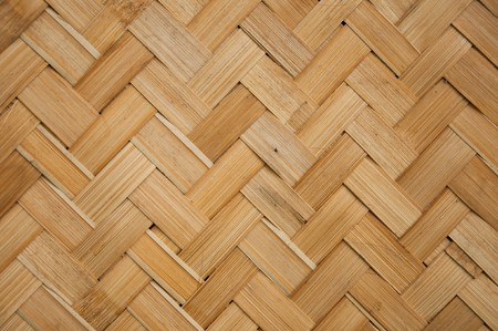 Closeup of weave pattern on Thai house 's wall. Stock Photo - 7404188