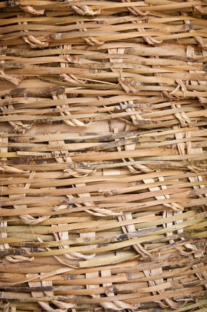 Rattan weave pattern of a basket photo