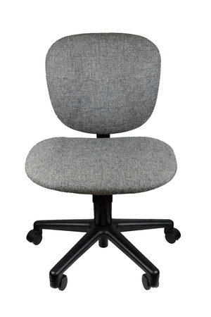 office chair without arm rest, isolate background