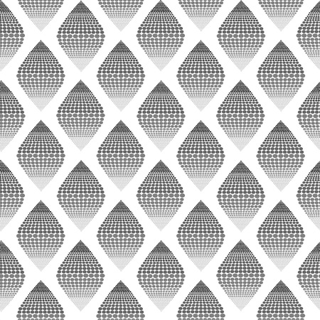 Seamless pattern background of grayscale dot that form to rhombus Banco de Imagens