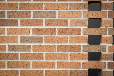 planar: orange brick wall background pattern