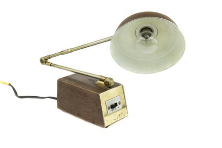 vintage, retro flexible desk lamp, isolate white background