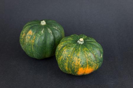 pumkin: Two acorn squash, pumkin harvest from Mexico Stock Photo