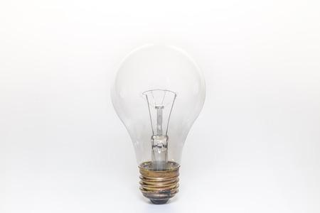 1 つの電球、ホワイト バック グラウンドを分離