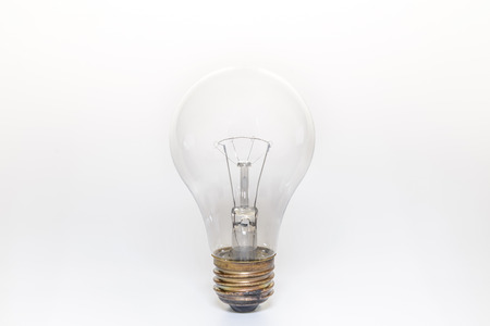 electric bulb: single electric light bulb, isolate white background