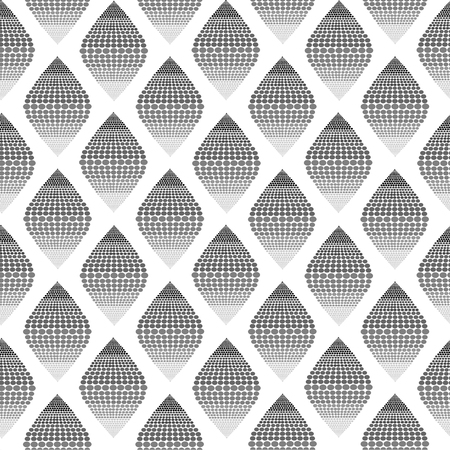 grayscale: Seamless pattern background of grayscale dot that form to rhombus Illustration