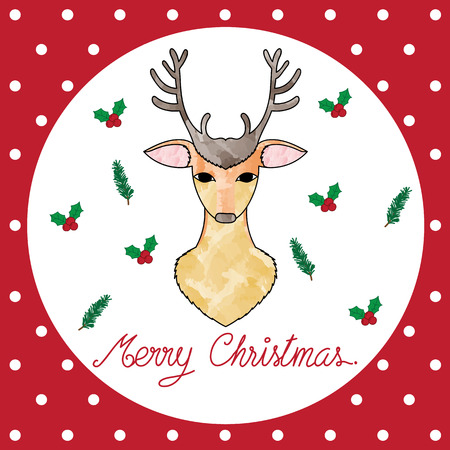 chirstmas: Vector of a pretty deer for Chirstmas Card