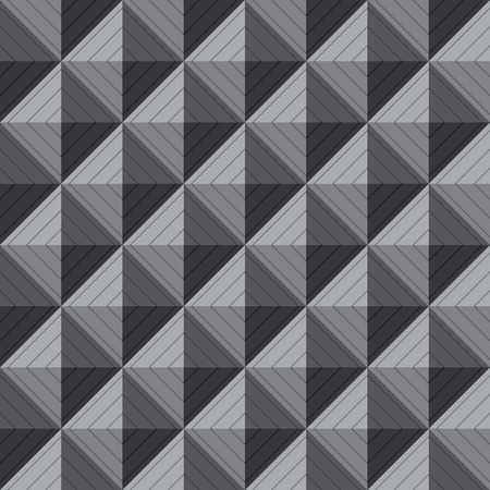 greyscale: Vector seamless pattern background of greyscale square 3D