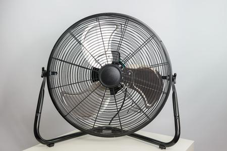 black metal ventilation fan on white background