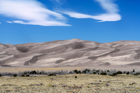 Great Desert Sand Dune scenic view, Colorado, America Stock Photo