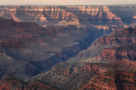 Morning light at Gran Canyon North rim view point trail.