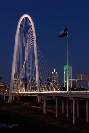 Skyline di Dallas City di notte, Texas Archivio Fotografico - 88999249