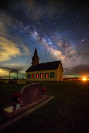 묘지에서 밀키 방법 올드 락 교회, 역사적인 사이트, 텍사스