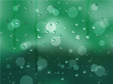 Rainy Window Vector Background Vector