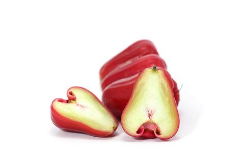 strangeness: Rose apple isolated on the white background.