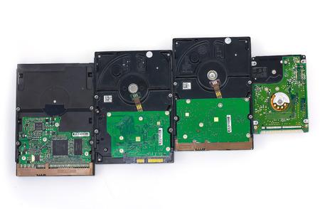 diskdrive: Stack of Hard Disk Drives Stock Photo