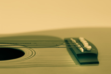 boehm flute: Detail of classic guitar with shallow depth of field for the Aesthetics. Stock Photo