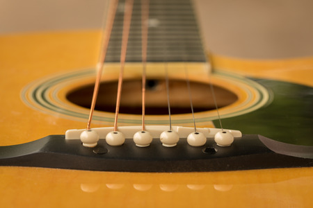 boehm: Detail of classic guitar with shallow depth of field for the Aesthetics. Stock Photo
