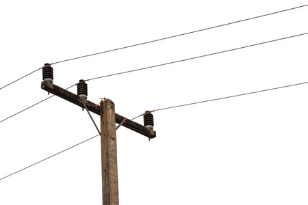 AC 3-Phasen-Stromübertragungsleitung 380 v. Standard-Bild - 43488256