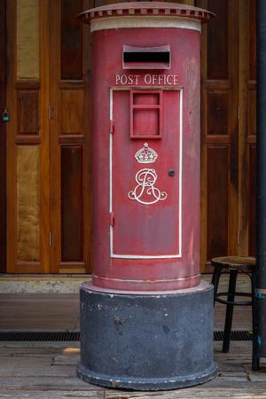 pillar box: Thailand ancient postbox. Stock Photo
