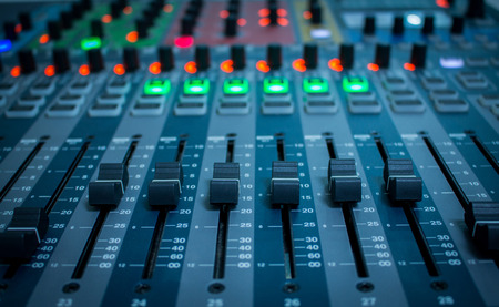 Mixer,Control of high-quality audio and equalizer volume on the mixer.