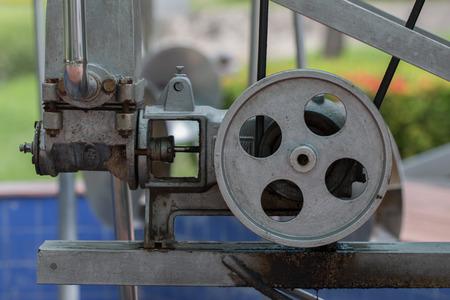 wind power: Machines, water pumps run by wind power. Stock Photo