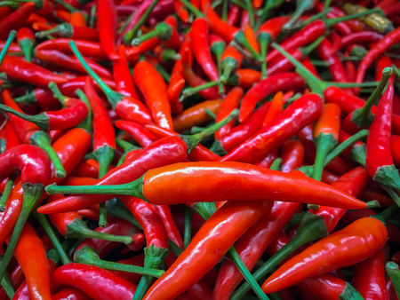 Red chili is used in Thailands food, making the food taste hot, hot.