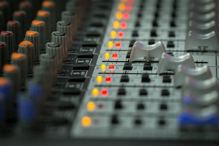 Sound-Mischpult oder Sound-Mixer-Controller. Standard-Bild - 77938378