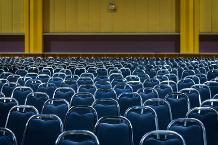 Banquet chair placed in a row. Standard-Bild - 101846027