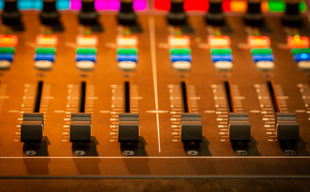 Mixer,Control of high-quality audio and equalizer volume on the mixer. Standard-Bild - 101830478