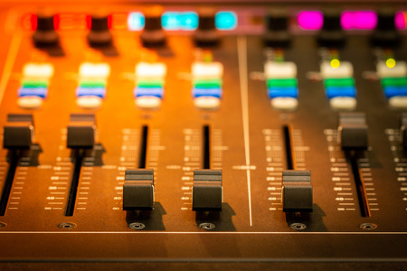 Mixer,Control of high-quality audio and equalizer volume on the mixer. Standard-Bild - 102074825